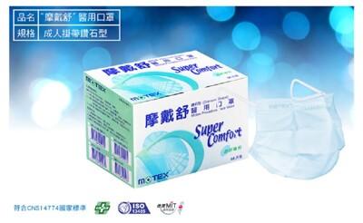 華新MOTEX 摩戴舒 鑽石型 醫用成人款口罩 天空藍 (1盒/50片裝) (4.4折)