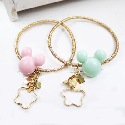 【PinkyPinky Boutique】可愛小熊髮束 *粉紅色/粉彩綠* (4折)