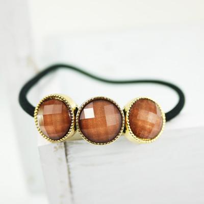 【PinkyPinky Boutique】3顆寶石氣質髮束 (4折)