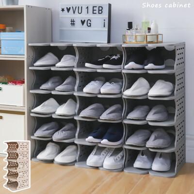 6層塑膠鞋櫃 可拆裝鞋櫃 鞋子收納 拖鞋架 拖鞋收納 玄關鞋櫃 塑膠鞋架 SD|宅貨