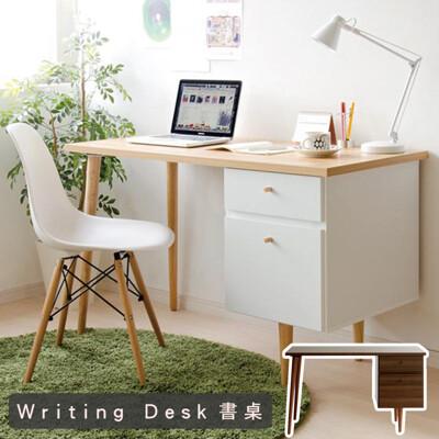 日系雙抽電腦桌(2色)  桌子 工作桌 辦公桌 書桌 化妝桌 電腦桌 會議桌 台灣製 宅貨