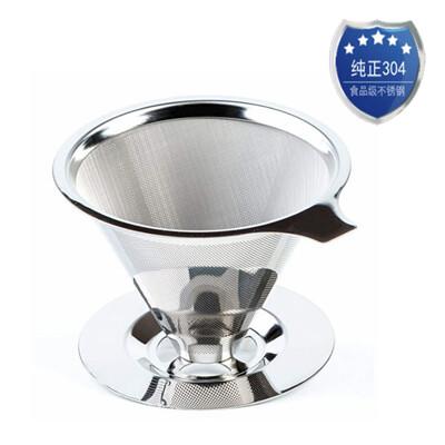 雙層304不銹鋼咖啡過濾器(濾杯)