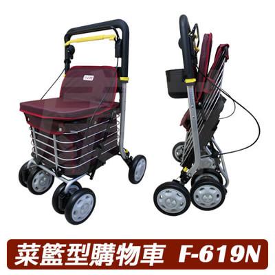 【康諾健康生活】必翔銀髮 菜籃型購物車 F-619N (8折)