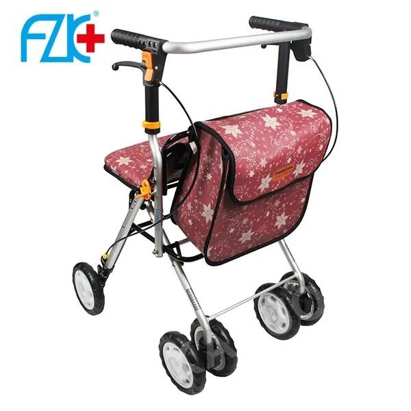 富士康時尚輕便型散步車 fzk-717 紅色 (購物車 健步車)