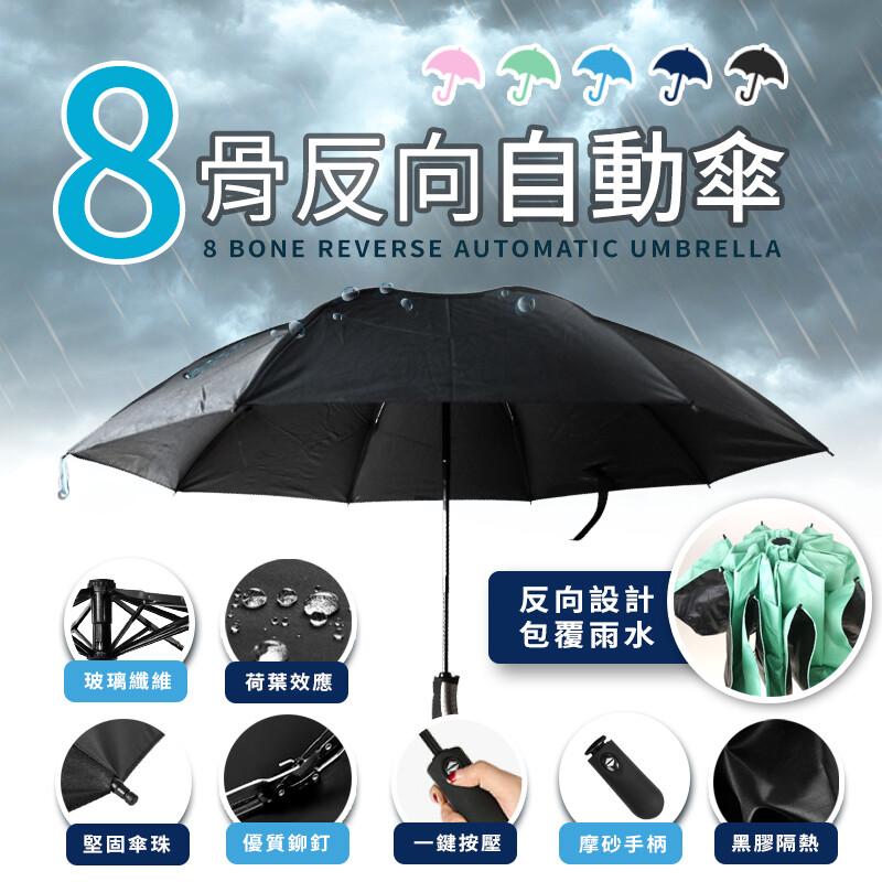 雙層黑膠 超大傘面反向摺疊防風防曬晴雨傘反向傘晴雨傘雨傘遮陽傘hor9c1