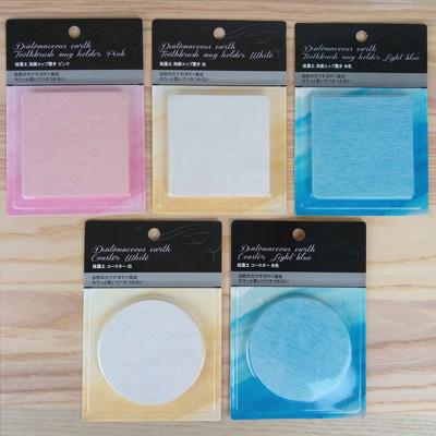 日本 珪藻土杯墊/皂墊 買4送1(買4個珪藻土送日本進口專用砂紙1枚) (3.3折)
