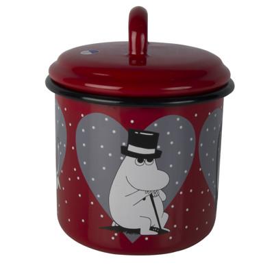 芬蘭Muurla 嚕嚕米系列-嚕嚕米愛心琺瑯儲物罐1.3公升/1.3L (7.2折)