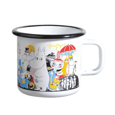 【芬蘭Muurla】嚕嚕米系列-Moomin作者Tove100周年琺瑯馬克杯370cc(白色)紀念款 (8折)