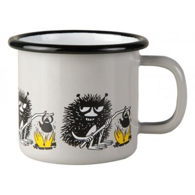 芬蘭Muurla 嚕嚕米系列-朋友系列阿丁150cc(灰色)咖啡杯/琺瑯杯 (7.2折)