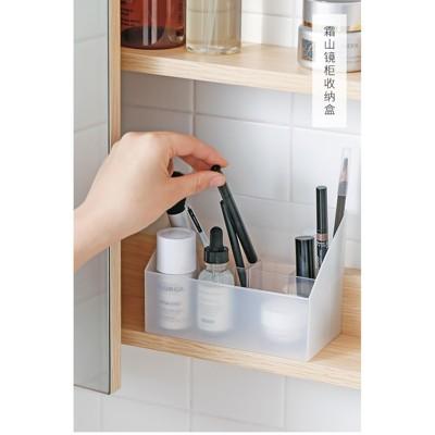 化妝收納盒 鏡櫃化妝品收納盒護膚品塑膠整理盒桌面置物架透明儲物盒 - 單個裝 (3折)