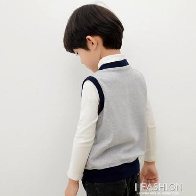 兒童馬甲秋外穿寶寶馬夾外套小孩秋冬針織純棉保暖背心男童坎肩 (6折)
