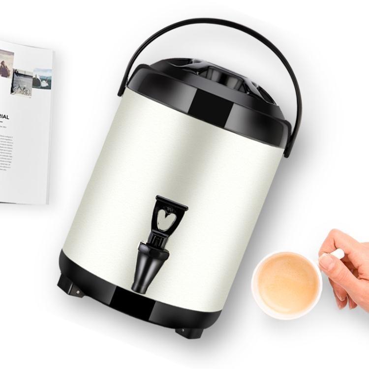 樂淘淘不銹鋼奶茶桶保溫桶商用豆漿桶奶茶店冷熱雙層保溫涼茶桶帶水龍頭