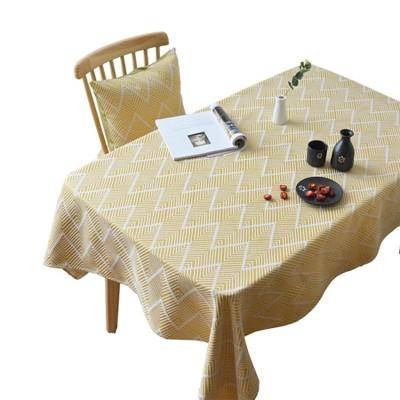 桌墊 日式桌布布藝茶桌茶幾客廳中式棉麻加厚北歐簡約橢圓形餐桌布桌墊 (3.9折)