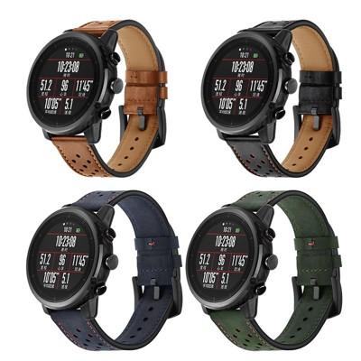 小米 華米2AMAZFIT智慧運動手錶帶 華米2S米動真皮手環帶替換腕帶 雙11 (6.1折)
