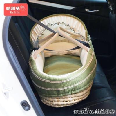 嬰兒提籃 新生兒便攜式手提籃車載寶寶提籃床草編外出車載提籃 (7.4折)