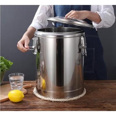 奶茶桶-304不銹鋼保溫桶超長商用飯桶大容量豆漿奶茶開水冰桶家用帶龍頭 - 15l無龍頭保溫桶 (3.7折)