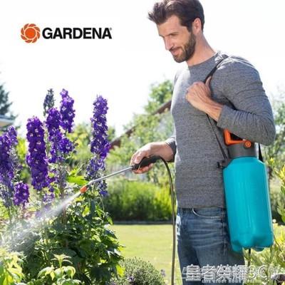 德國進口gardena嘉丁拿 花園園藝農用5l氣壓式澆花打藥噴壺噴霧器 - 822型5l氣壓噴霧器 (5.2折)