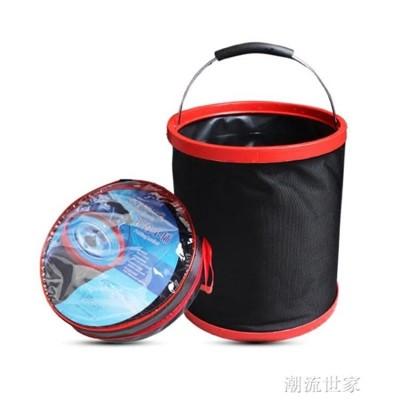 汽車用可折疊水桶垃圾桶戶外釣魚用品洗車置物袋汽車水桶伸縮車載  汽車折疊式水桶 (4.4折)