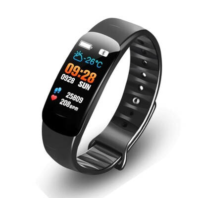 智慧手錶 C2彩屏智慧手環游泳防水男女運動計步手錶多功能安卓蘋果 雙11 (6.3折)