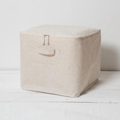 《真心良品》棉麻深型附蓋收納箱(特大) (4.2折)