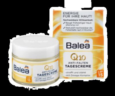 德國原裝進口 Balea Q10 防止肌膚提前老化 抗皺撫紋 日霜/晚霜 50ml (7.3折)