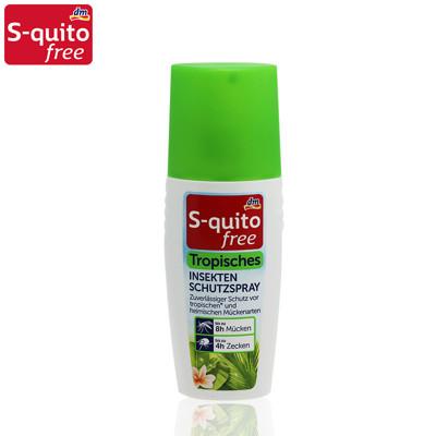 德國 DM~ ~S-quito free 天然無毒防蚊噴霧(100ml) 敏感肌膚/熱帶 (7.2折)