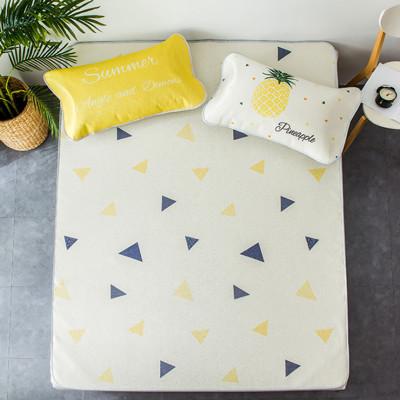 加厚透氣冰絲涼席可愛造型紋床墊(雙人三件組) (4.5折)