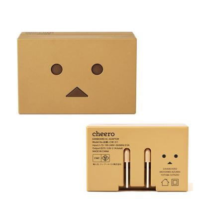 日本cheero阿愣USB AC 雙輸出旅充 1A+2.1A雙USB 充電器 (5.7折)