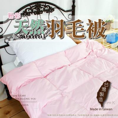 【床邊故事】粉彩天然羽毛被-雙人6x7尺-100%天然水鳥羽絨毛 / 輕柔保暖 (3色) (4.8折)