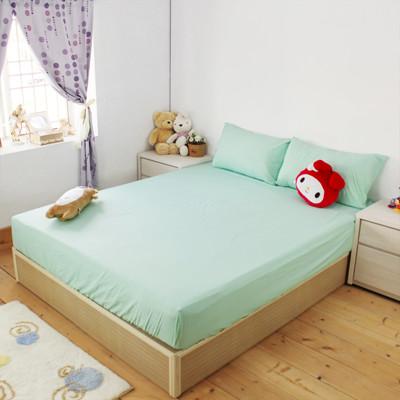 【床邊故事】100%純棉-素色薄床包枕套組_單人加大3.5尺(5款花色) (4.8折)