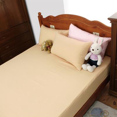 【床邊故事】精選純色-高密度雪絲絨薄床包枕套組-單人加大3.5尺 (8色) (4.7折)