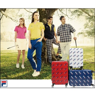 【FILA】20吋義大利品牌限量經典紀念款行李箱/拉桿箱-3色任選 (2.2折)