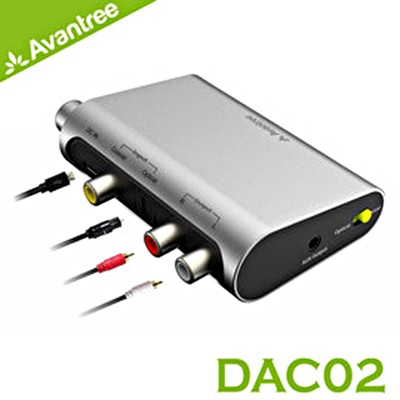 Avantree DAC02 數位類比音源轉換器(同軸/光纖 轉RCA/3.5mm音頻) (7.6折)