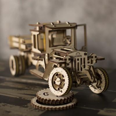 Ugears 自我推進模型 - 卡車全系列二件套組 (內含:四輪驅動卡車、卡車配件組) (9.6折)
