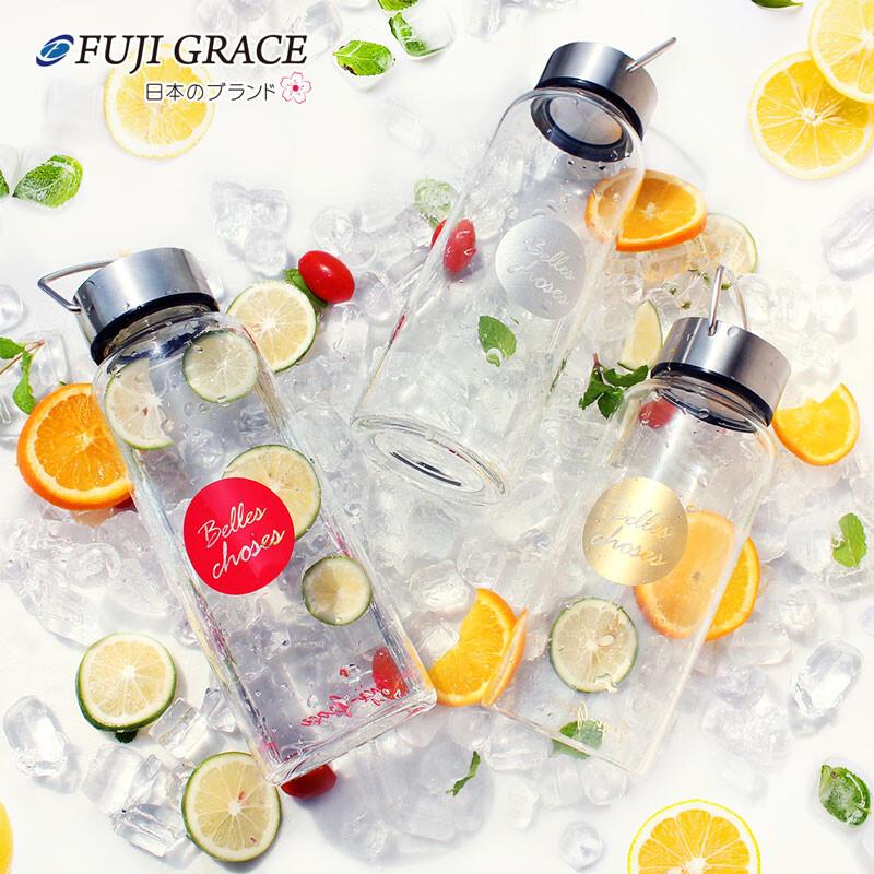 fuji-grace高硼矽耐熱手提玻璃瓶800ml