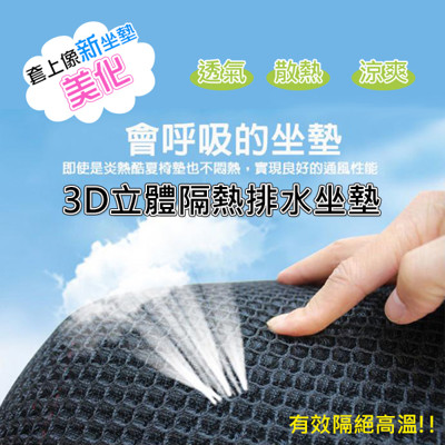 3D立體蜂巢機車隔熱排水座墊(透氣散熱機車坐墊) (3折)