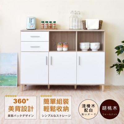 《HOPMA》典藏三門二抽廚房櫃/美背 (3.5折)