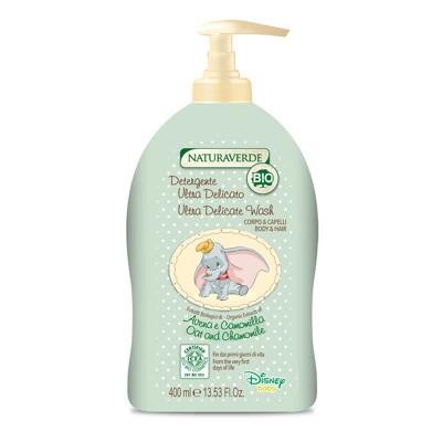 下單送口罩【義大利 DisneyDumbo】有機嬰幼兒洗髮沐浴乳-400ml (5折)