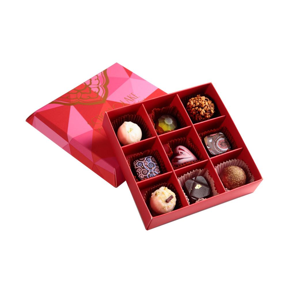 巧克力雲莊手工巧克力9入法式甜心繽紛禮盒(口味隨機)