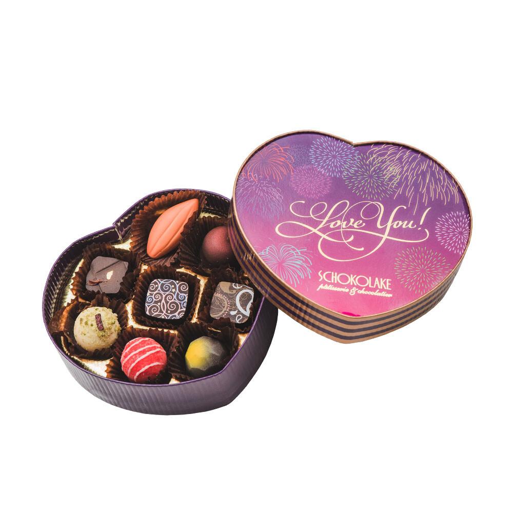 巧克力雲莊手工巧克力8入愛心禮盒(口味隨機)