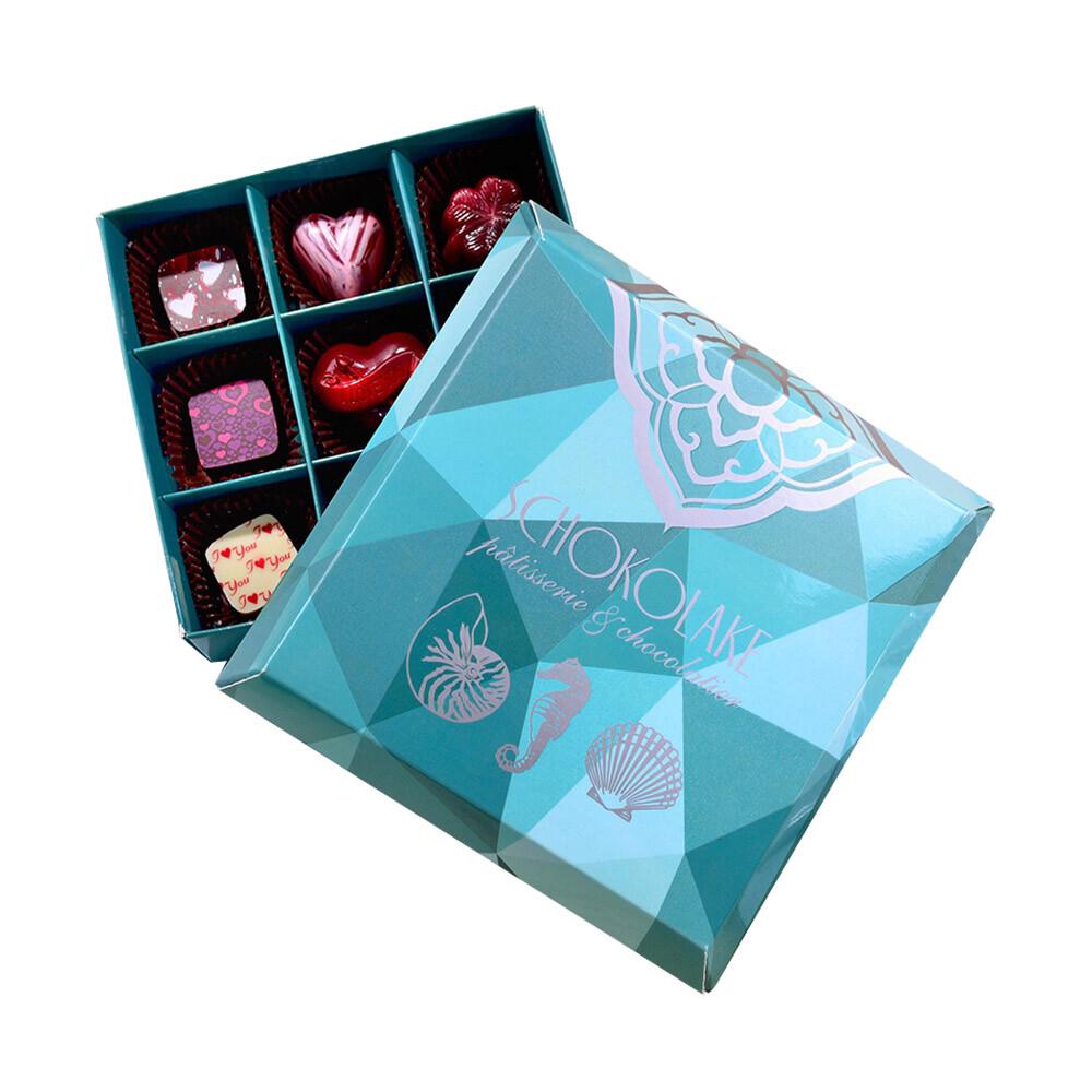 巧克力雲莊手工巧克力9入海洋微風禮盒(口味隨機)