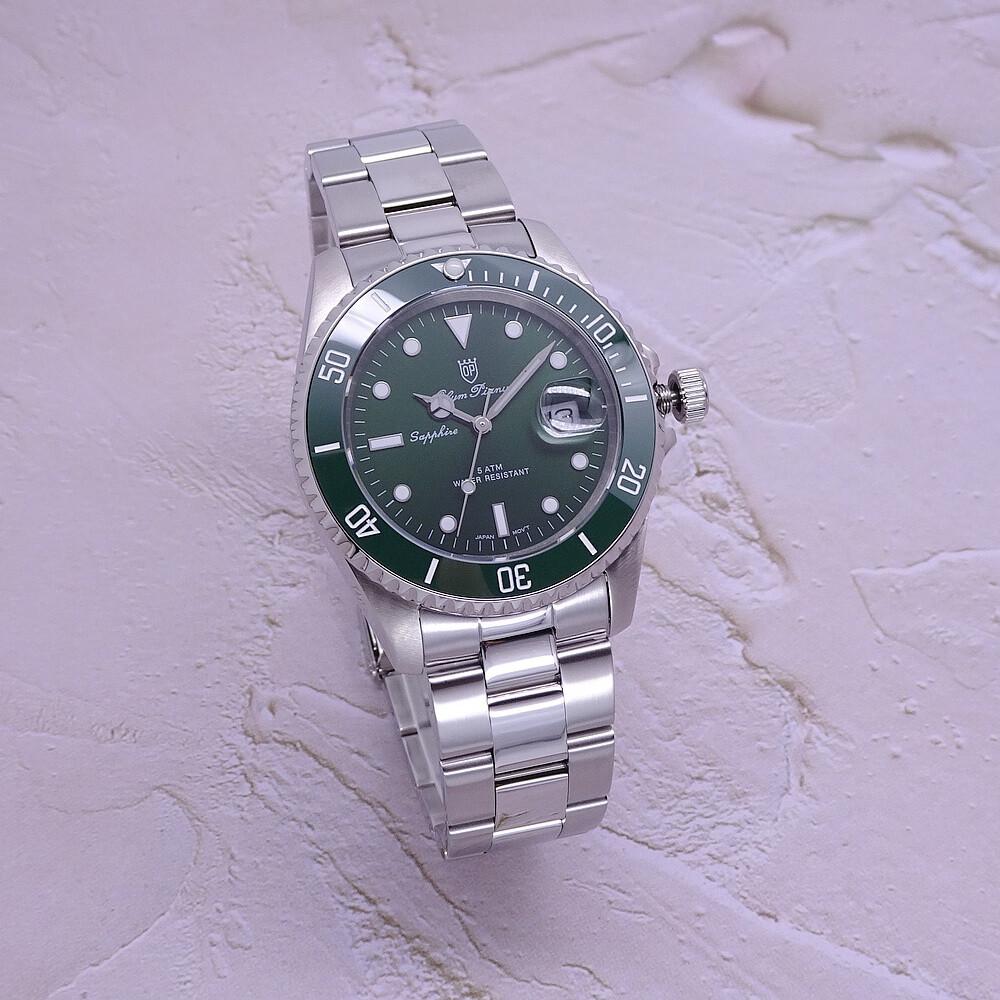 olym pianus 奧柏表綠水鬼霸氣超強夜光運動型腕錶/40mm-綠框-899831.2g1s