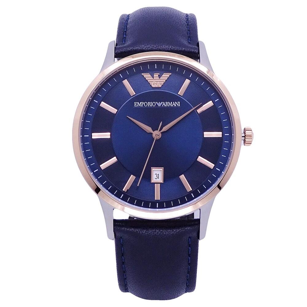 armani 經典入門優質選擇時尚腕錶-藍色-ar11188