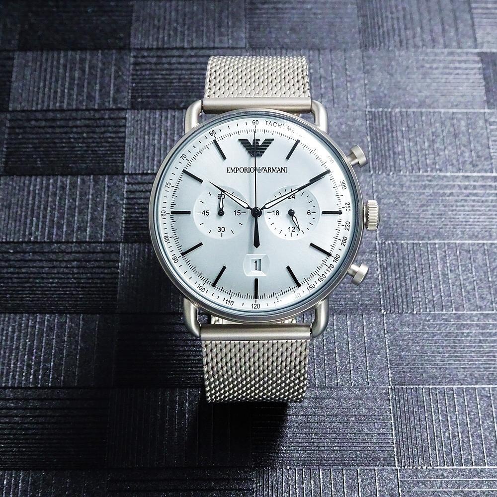 armani 米蘭時尚之神降臨優質品味腕錶-銀色-ar11288