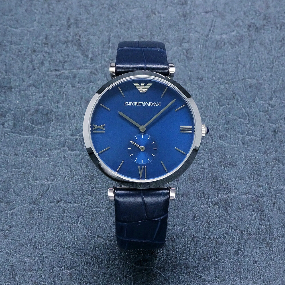 armani 高雅品味時尚優質腕錶-藍色-ar11300