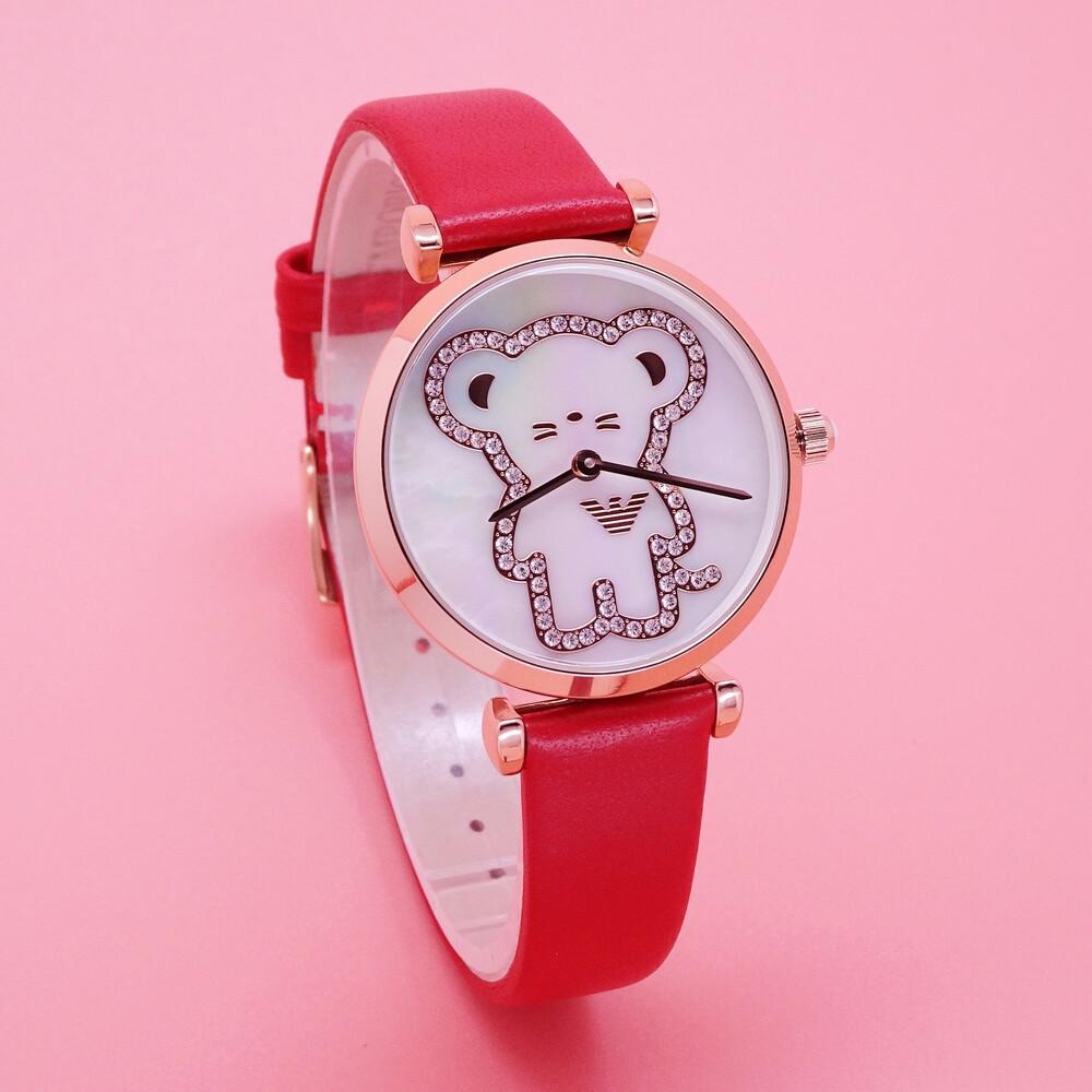 armani 鼠你最美時尚優質限量腕錶-紅-ar11281