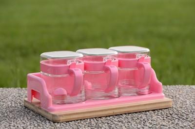 比特方形玻璃調味罐組 (座式收納) (3.3折)