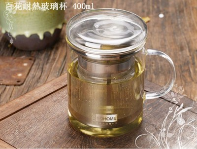百花耐熱玻璃杯 (3折)