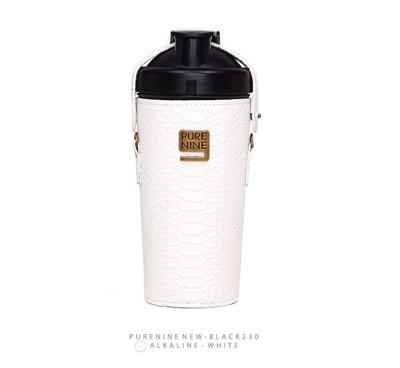 韓國PURENINE BOTTLE時尚鹼性水生成水壺(二代黑內瓶)-天使白皮套 (4.3折)