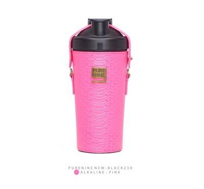 韓國PURENINE BOTTLE時尚鹼性水生成水壺(二代黑內瓶)-螢光桃紅皮套 (4.3折)